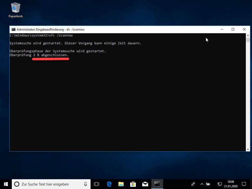 Windows Fehler behoben