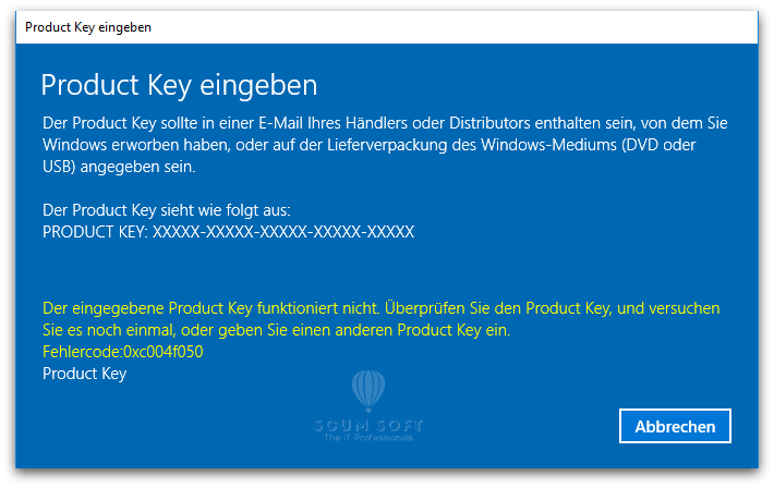 0xc004f050 Windows 10