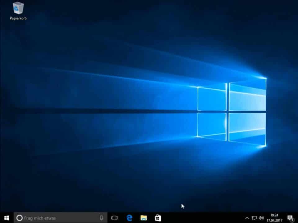 Windows 10 fertig installiert