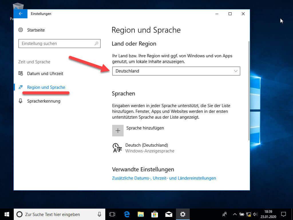 Windows 10 Sprache Wechseln