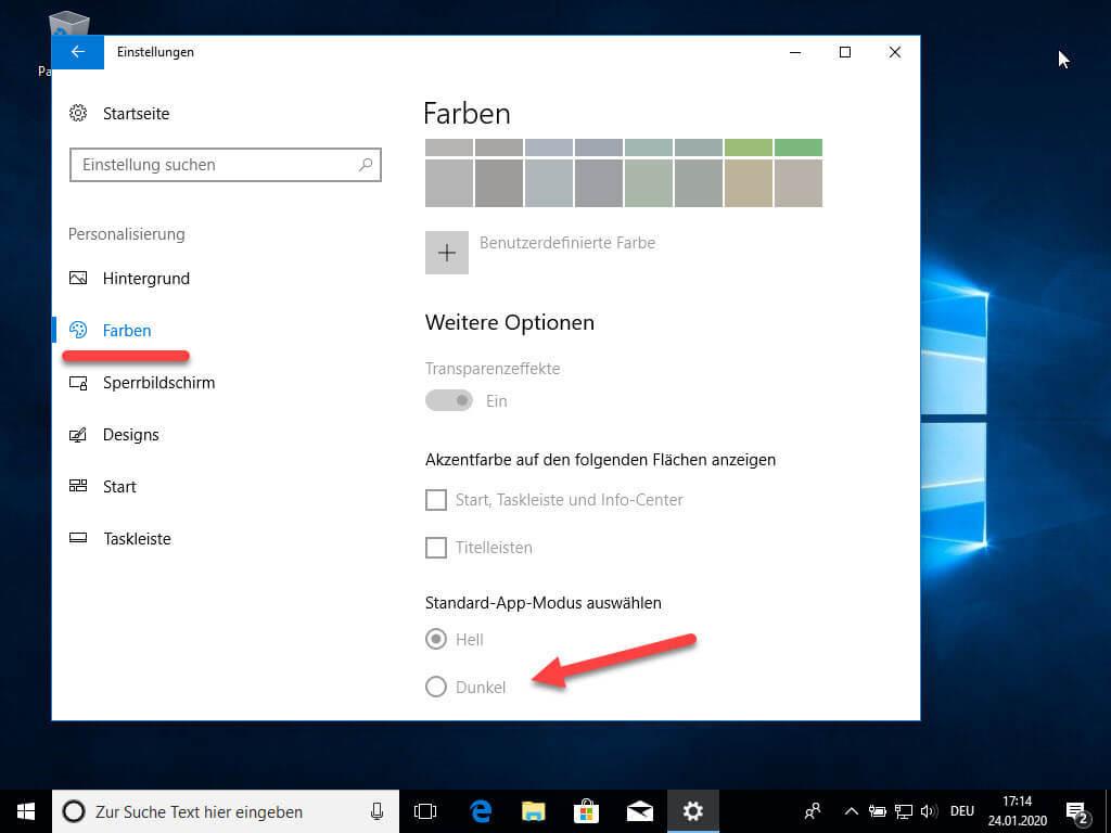 Dark Mode in Windows 10 aktivieren
