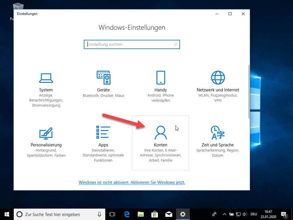 Windows 10 Passwort ändern Anleitung